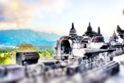 Stupas at the top level