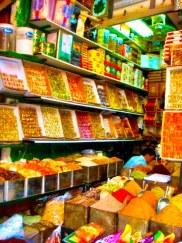 Spice stall at the Al-Hamidiyah Souq