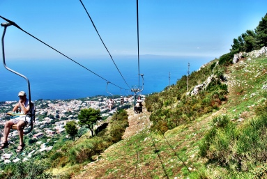 Chair lift. Monte Solaro.