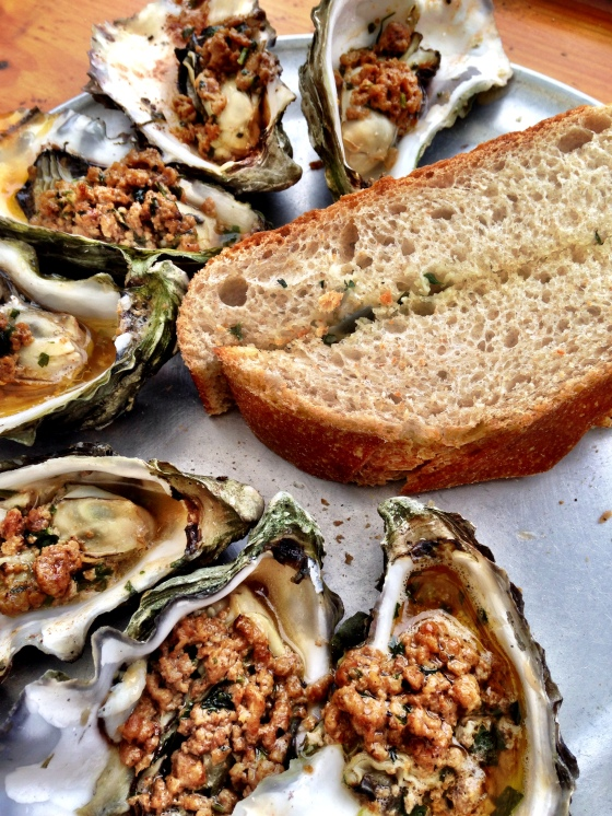 Shucking in Tomales Bay