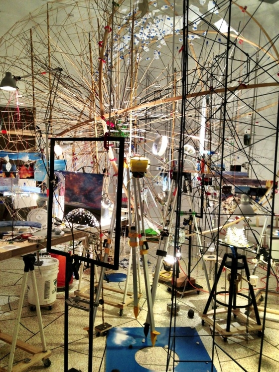 Triple Point by Sarah Sze. United States of America Pavilion.