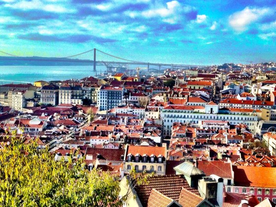 City view from the Castle of São Jorge