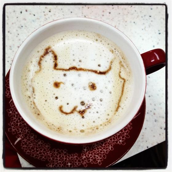 'Meow' cappuccino