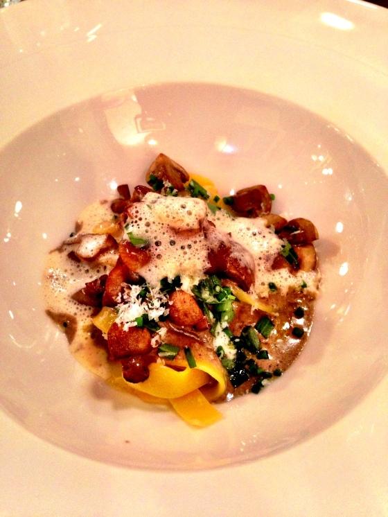 Mushroom Tagliatelle with Parmigiano-Reggiano Emulsion